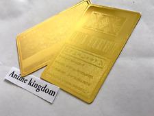 USA Seller Cosplay Hunter x Hunter 1 Star Hunter License Card Golden Metal Card