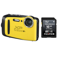 Fujifilm FinePix XP130 16.4MP Digital Camera Yellow HD Wi-Fi Bluetooth +16GB SD