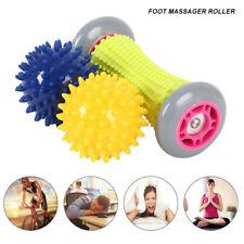 Foot Massager Roller 2x Feet Hard Spiky Ball Plantar Tension Relief Reflexology,