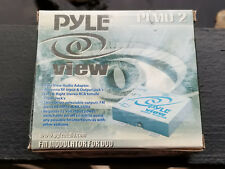 Pyle PLMD2 FM Modulator 2 Channel Wired for Mobile DVDs Car Audio Stereo Aux In