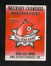 Hickory Crawdads--2014 Pocket Schedule--North Carolina Lottery