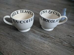 Emma Bridgewater 2x Early Toast & Marmalade Cups Hot Chocolate - please read