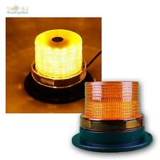 LED luces giratorias con conexión 12/24v cable 2m, 9,5x13cm, 60 Led naranja