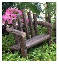 "* Adirondack Bench * 3"" L x 2.75"" H Miniature Fairy Garden Dollhouse Resin Twig"