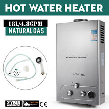 Natural Gas Tankless Hot Water Heater 18L Instant On Demand Boiler Methane