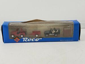 Roco 1711 Jeep Renegade with trailer and  Laredo plus hardtop canopy 1/87 HO box