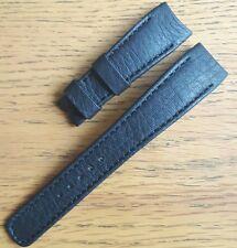 Original OEM Tudor 21mm Matte Black Buffalo Hide Leather Strap NEW!