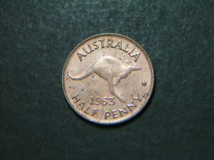 1963 Australian Half Penny
