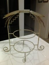 Fall 2 Tier Plate Wrought Iron Holder