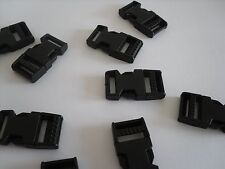 10 X 15mm Black Plastic Side Release Buckles