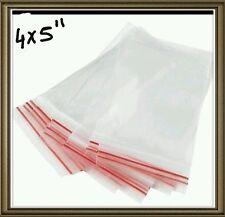 100PCS Plastic Zip lock Zip Seal Pouch Bags Size- 4x5 INCH Resealable Clip 1 bag