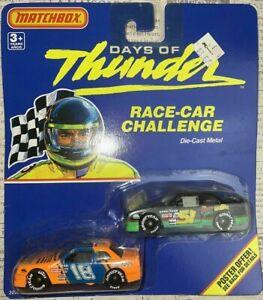 1/64 Vintage 1990 Matchbox Days Of Thunder Race Car Challenge 2 Pack