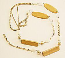70S 80S Retro Collar o Correa Caderas, Cintura Vientre Cadena grandes Lucite Madera Metal