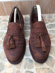 Alden 3618 Brown Suede Tassel Moccasin Loafers Slip-On Shoes Mens Size 9.5.C/E