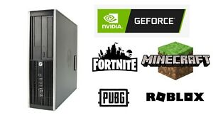 Cheap Gaming PC HP Elite 8300 Quad i5-3470, Nvidia Geforce, Windows 10, WIFI.