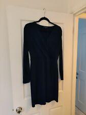 French Connection Size 12 Midnight Blue Fake Warp Around Short Stretch Dress