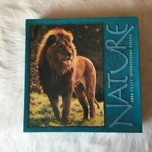1999 MB MALE LION KING Jigsaw Puzzle 1000 Piece BIG CAT Wildlife MADE IN THE USA