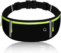 Adjustable Zippered Fanny Pack with Headphone Port for Running, Workout, Cycling