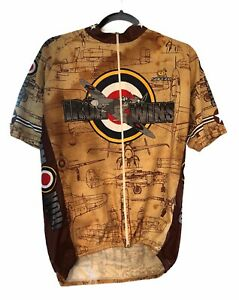 XXL 2XL Mens The Service Course Military Airplane Iron Wins Cycling Jersey