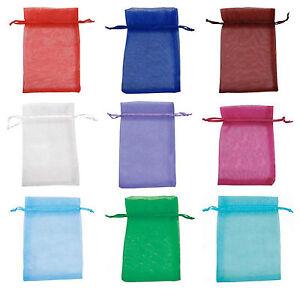 Finest Quality Plain organza bags 10x12cm Wedding favour Bags UK seller