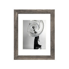 New ListingRustic 11x14 Wood Picture Frame 8x10 Photo Frames With Mat Glass Wall Home Decor
