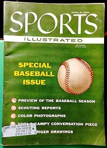 1956 Sports Illustrated Special Baseball Issue April 9 - Mantle Yogi Robinson