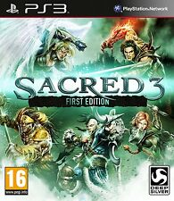 Sacred 3 First Edition Sony PlayStation 3 PS3 Brand New Sealed