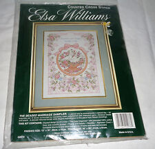 Elsa Williams - The Beaded Marriage Sampler Counted Cross Stitch Kit NIP