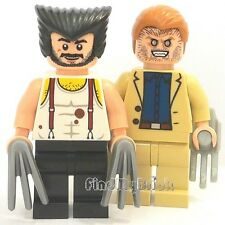 BM032 II Lego Super Heroes Custom Sabertooth & Wolverine CUSTOM Minifigures NEW
