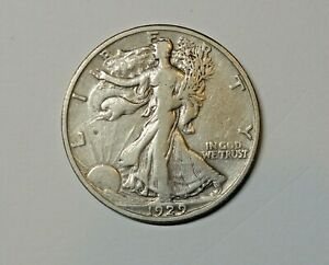 USA ; SILVER WALKING LIBERTY  HALF DOLLAR 1929 . 0.900 SILVER. KM 142