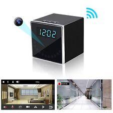 Wireless HD 1080P Wifi IP SPY Hidden Camera Clock IR Motion Detection DVR DV Cam