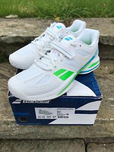 Babolat Tennis Shoe - Propulse BPM Womens All Court UK 8.5 New in Box! White/Grn
