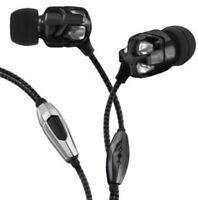 V-MODA Vibe duo In-Ear Noise-Isolating Metal Headphone-black N chrome-