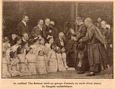 IMAGE 1912 PRINT CARDINAL VAN ROSSUM CONGRES EUCHARISTIQUE