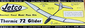 Jetco THERMIC 72 PLAN + PARTS PATTERNS for FF Towline Glider