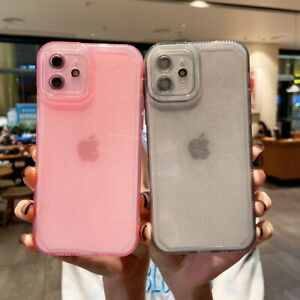 For iPhone 13 12 11 Pro Max X XR 8 7 Plus Shockproof Clear TPU Soft Case Cover