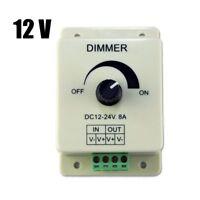 DC 12V 8A Light Dimmer Brightness Adjustable Control For Single Color LED Strip