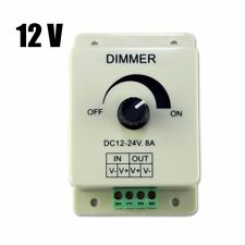 DC 12V 8A Light Dimmer Brightness Adjustable Control For Single Color LED Strip