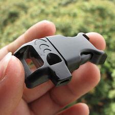 2X Emergency Whistle Plastic Buckle Clip Hook DIY 550 Paracord Survival Bracelet