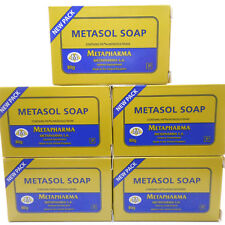 5 Pack Metasol Medicated Soap Scabies Eczema Skin rash Acne Jabon Medicado Sarna
