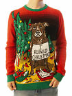 "Ugly Christmas Party Sweater Unisex Men's ""I Ruined Christmas"" Dog Shaming"