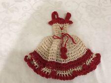 Vintage Handmade Barbie Crochet Dress Outfit sundress spagetti strap