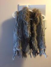 Real rabbit black fur vest. Size: 10. Perfect condition.