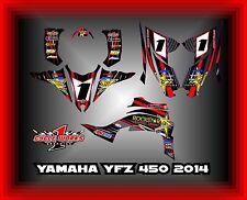 YAMAHA YFZ 450 2014 AND UP  SEMI CUSTOM GRAPHICS KIT PRIME