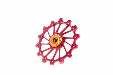 KCNC Road MTB Cycling Bike Oversized Derailleur Pulley Sealed Bearing 14T Red