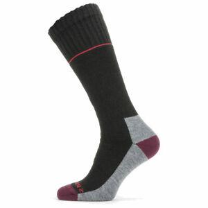 SealSkinz Solo QuickDry Knee Length Socks - Black / Red / Grey