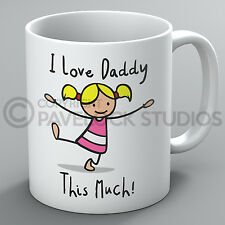 I Love Daddy This Much Mug Father's Day Dad Cute Birthday Present Coffee Gift
