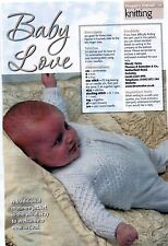 """~ Baby Knitting Pattern For Traditional Lacy Matinee Jacket ~ 16"""" ~ 20"""" Chest ~"""