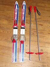 Ancien Ski + BATONS Enfant ALLPLAST RS 350  85Cm Vintage