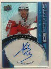 2018-19 Upper Deck Trilogy Hockey ICE SCRIPTS Pavel DATSYUK Red Wings AUTOGRAPH